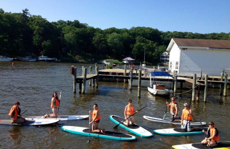 Paddle boarding at The Hotel Saugatuck.