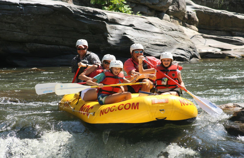 Rafting at Luxury Cabin NC.
