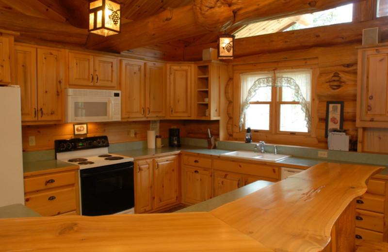 Cabin kitchen at Buckhorn on Caribou.