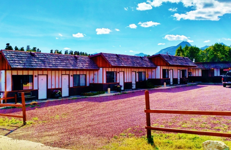 Exterior view of East Glacier Motel & Cabins.