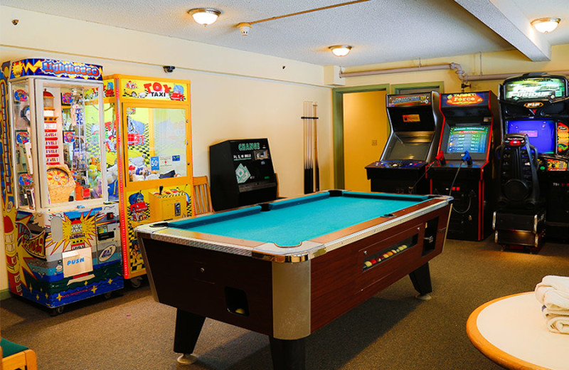 Game room at The Valley Inn.