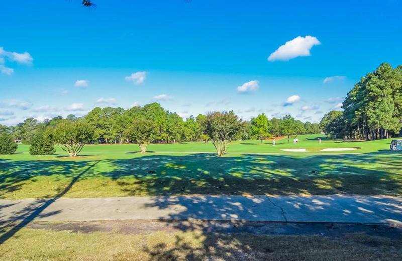 Golf course view at Sandhills Rentals.