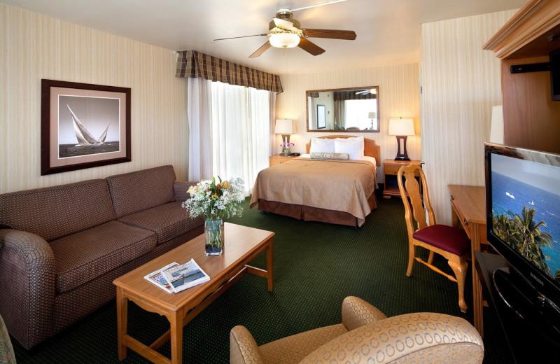 Guest room at The Wharf Inn.