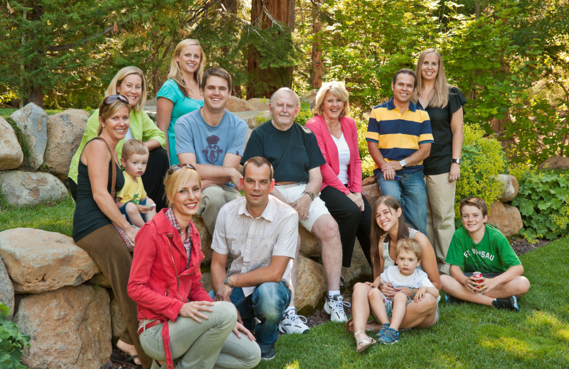 Family reunion at Granlibakken Resort.