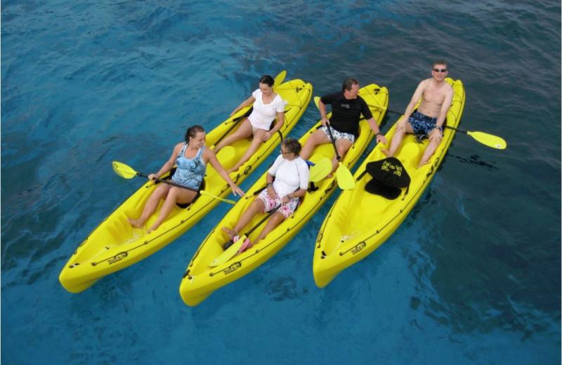 Kayaking at Chateau Lake Logan.