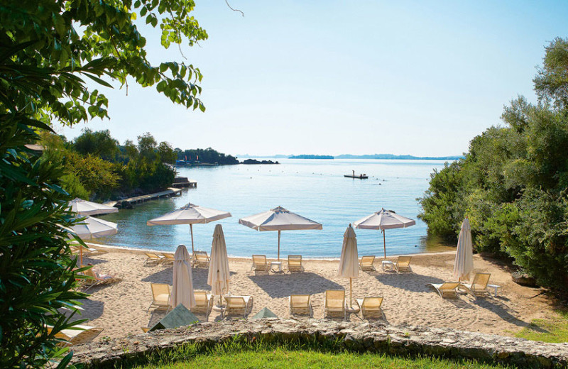 The beach at Grecotel Corfu Imperial.