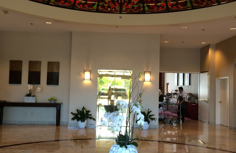 Lobby at The Grand Hotel.