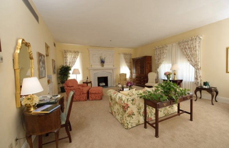 Guest living room at Cranwell Resort.