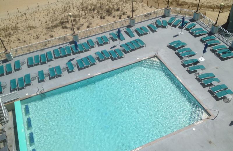 Outdoor pool at Hilton Suites Ocean City Oceanfront.