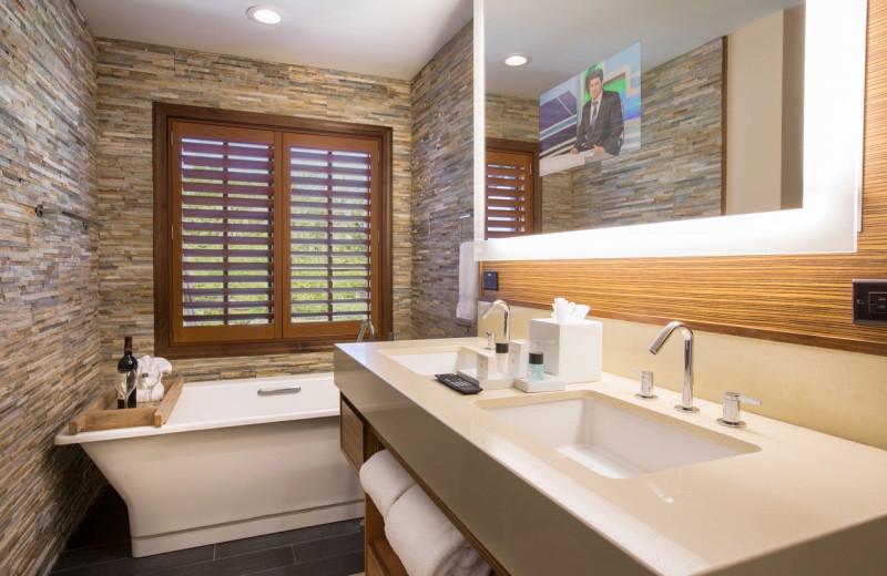 Guest bathroom at Villas of Grand Cypress.