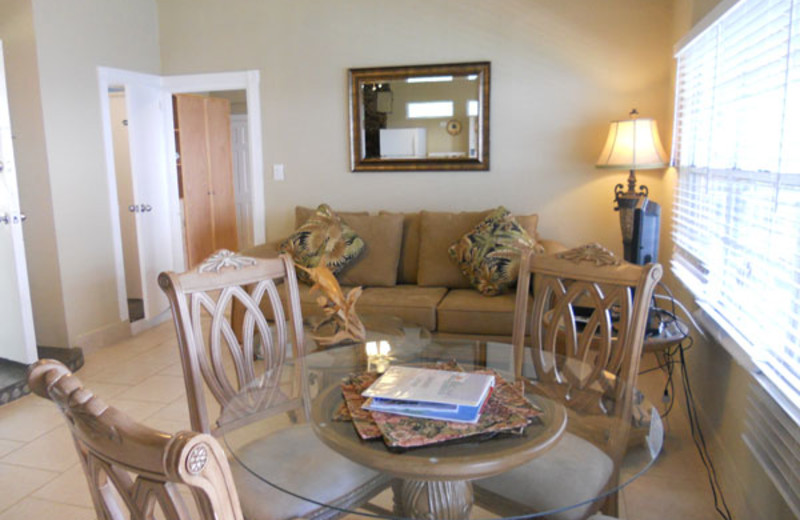 Rental dining room at Paradise Cove Resort.