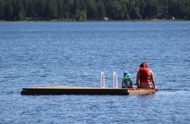 Swim dock at Black Rock Resort.