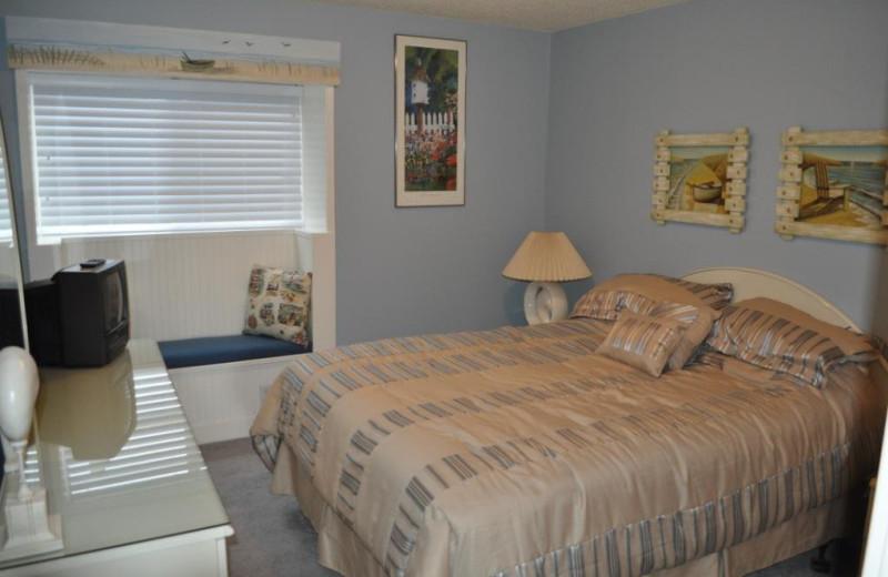Unit 29 guest bedroom at Cavalier Beachfront Condominiums.