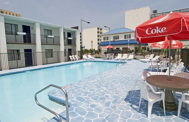 Outdoor pool at Best Western PLUS Oceanfront Virginia Beach.