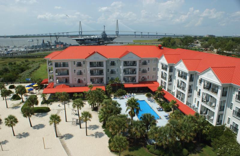 Aerial View of Charleston Harbor Resort