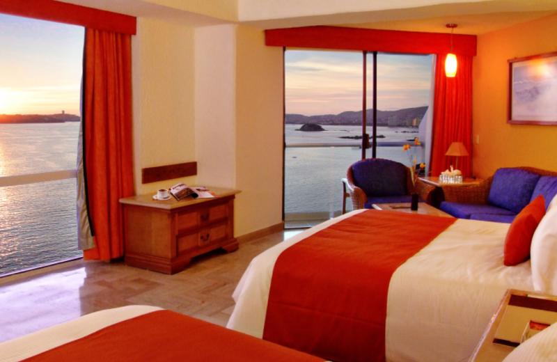 Guest room at Hotel Copacabana Riviera Maya.
