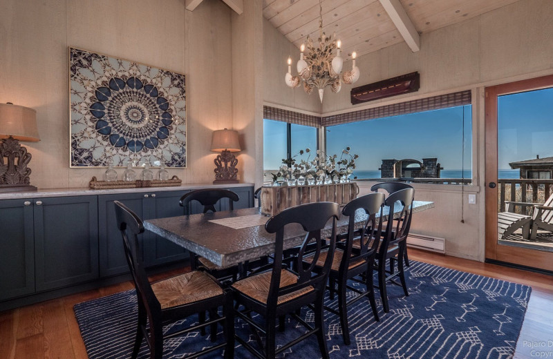 Rental dining room at Pajaro Dunes Resort.
