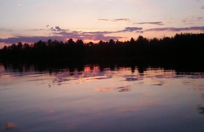 Sunset at Wojcieszak Flambeau Resort.