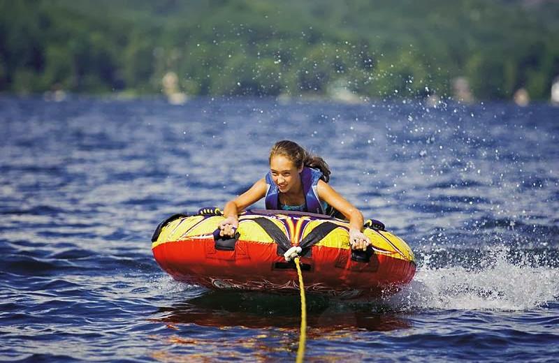 Water tubing at Lake Morey Resort.