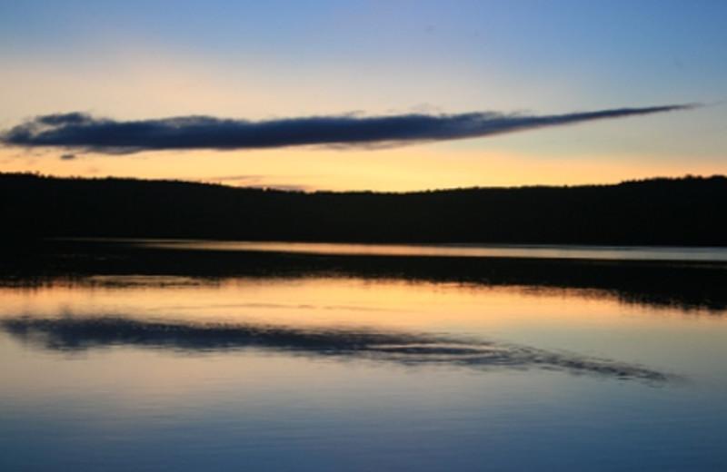 Beautiful Sunset at Trout Lake Resort.