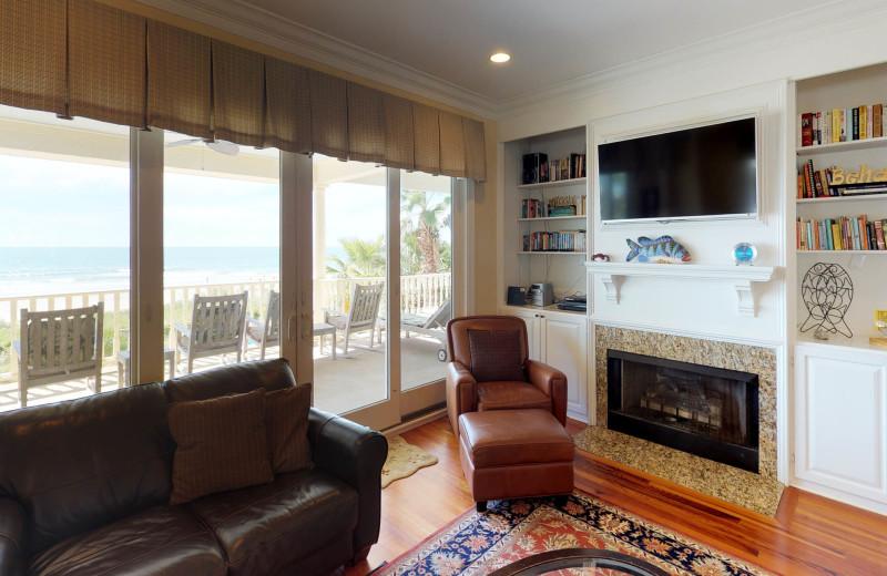 Living room at Ocean Blvd 702.