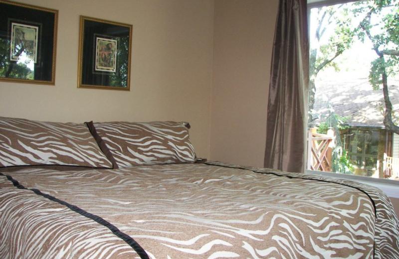 Guest bedroom at Dream Catcher Point Resort.