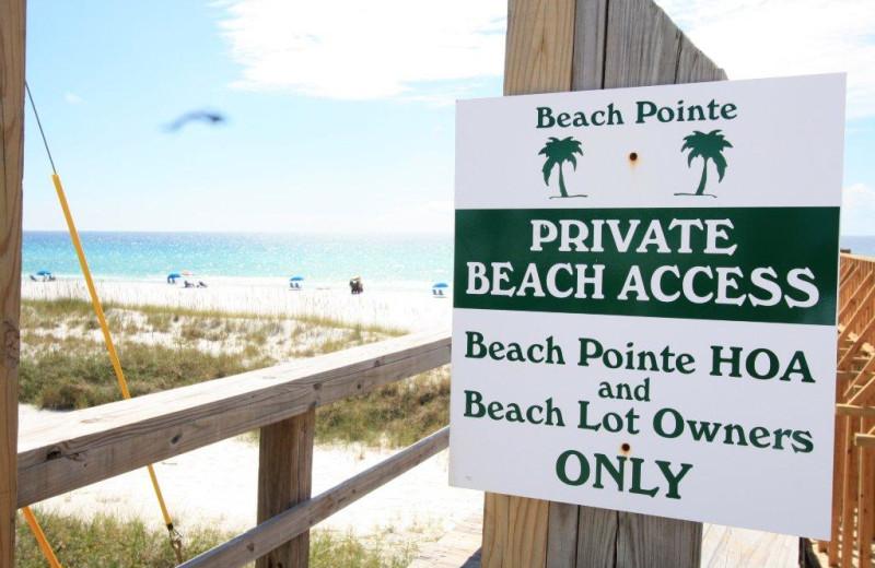 Rental beach at Destin Getaways.