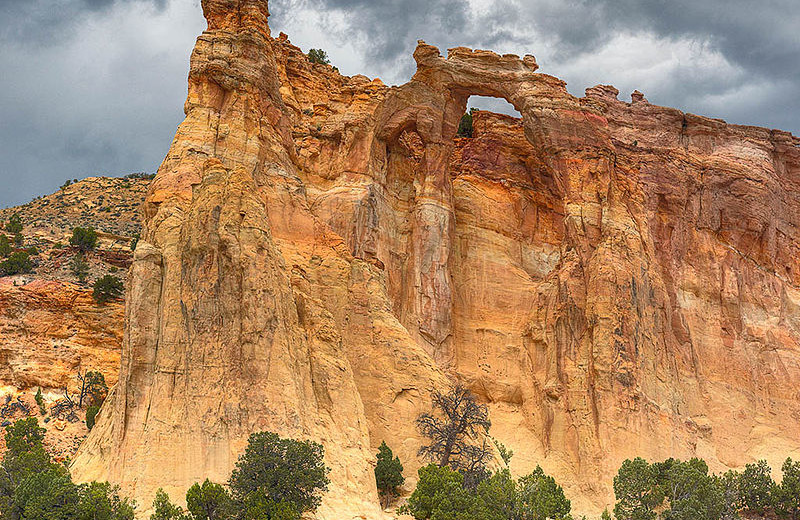 Grosvenor Arch near Bryce Canyon Inn.