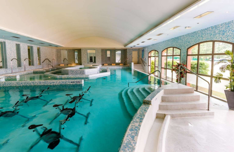 Indoor pool at Domaine de Fayence.