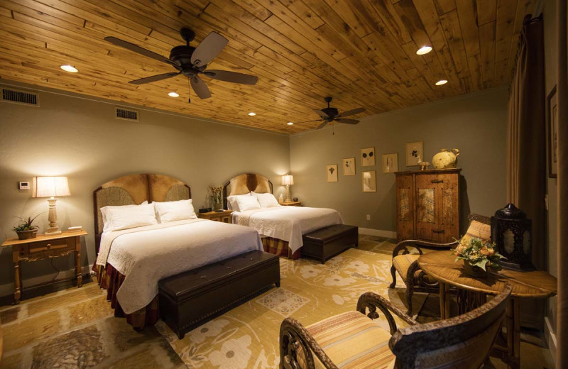 Guest bedroom at Joshua Creek Ranch.