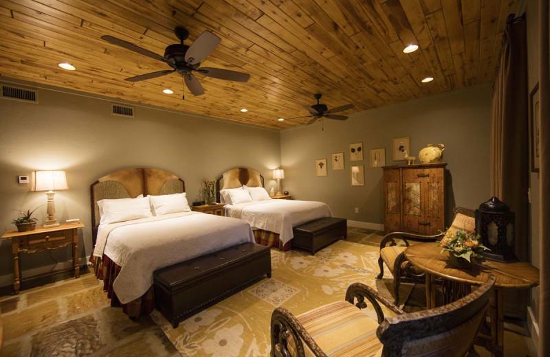 Guest bedroom at Joshua Creek Ranch.