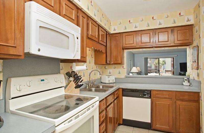 Rental kitchen at Anchorage Rentals, LLC.