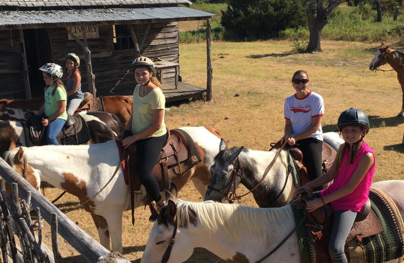 Horse back riding at Hideaway Ranch & Retreat.