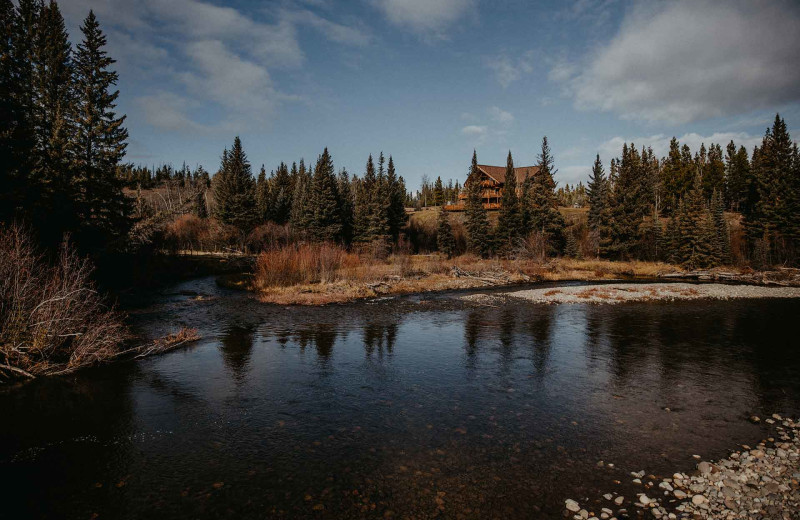 Lake view at Big Creek Lodge.