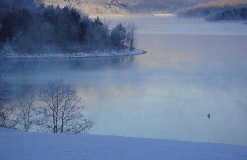 Lake view near Green Valley Resort.