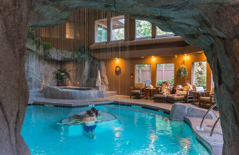 Indoor pool at Tigh-Na-Mara Resort.