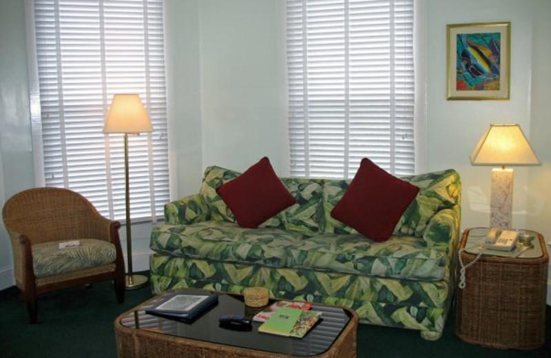 One bedroom loft living room at The Banyan Resort.