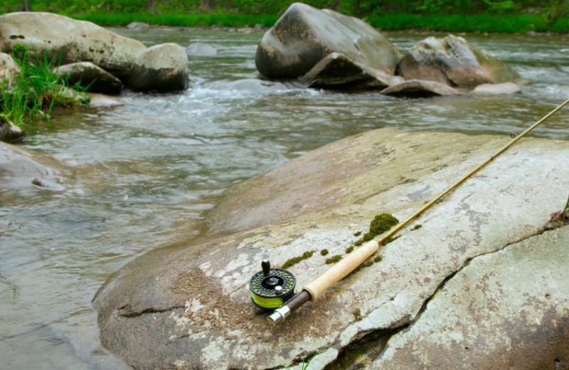 Fishing at Boulder Mountain Lodge.