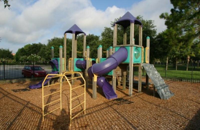 Children's playground at Clarion Inn Lake Buena Vista.
