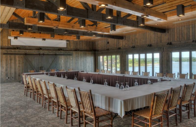 Meetings at Madden's on Gull Lake.