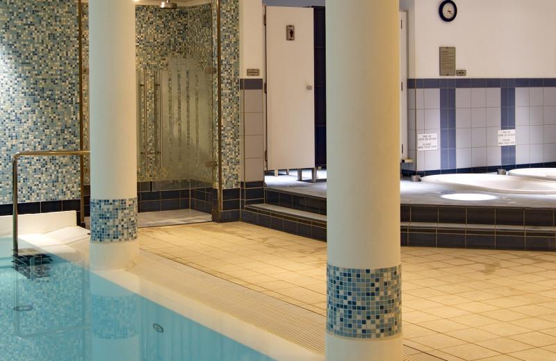 Indoor pool at Radisson Blu Palace Hotel.