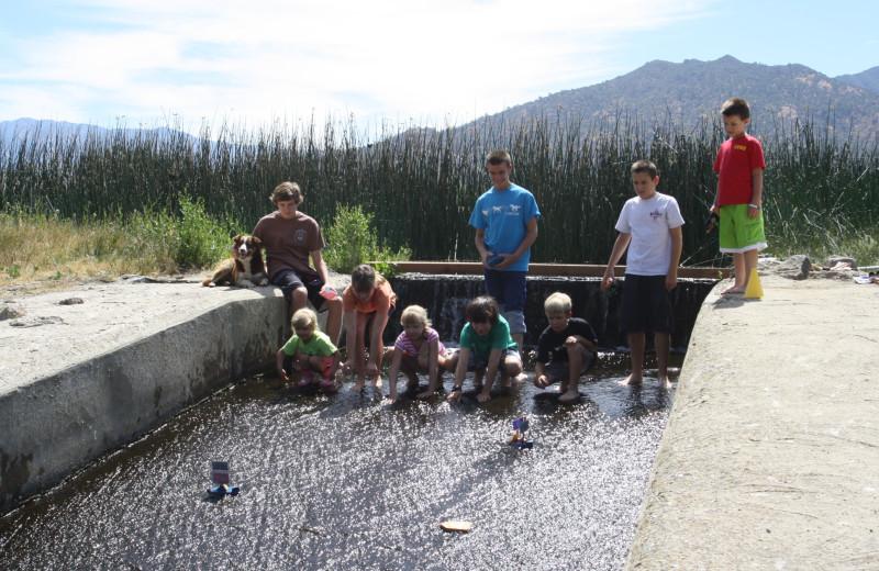 Kids group at Rankin Ranch.