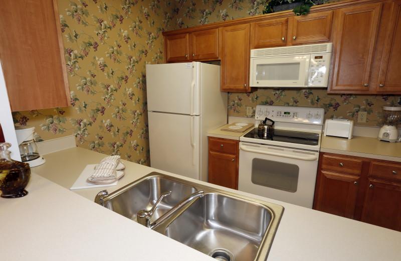 Guest kitchen at King's Creek Plantation.
