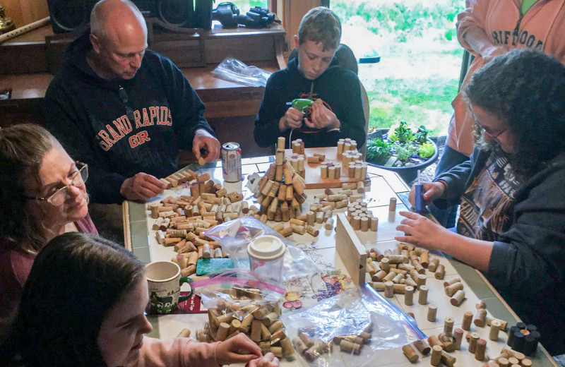 Family crafts at Driftwood Resort.