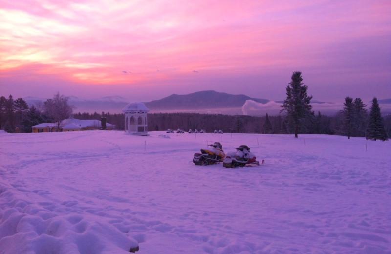 Sunset at Mountain View Grand Resort & Spa.