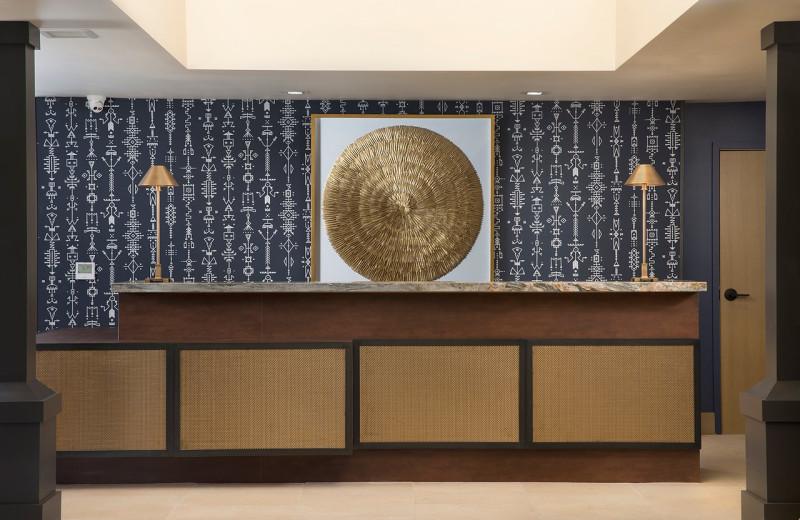 Reception desk at Sky Rock Inn of Sedona.