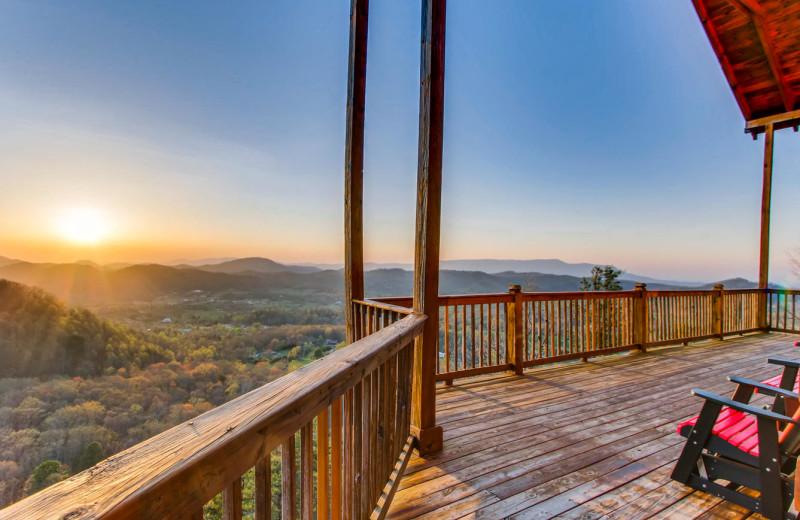 Rental deck at Cove Mountain Resort.