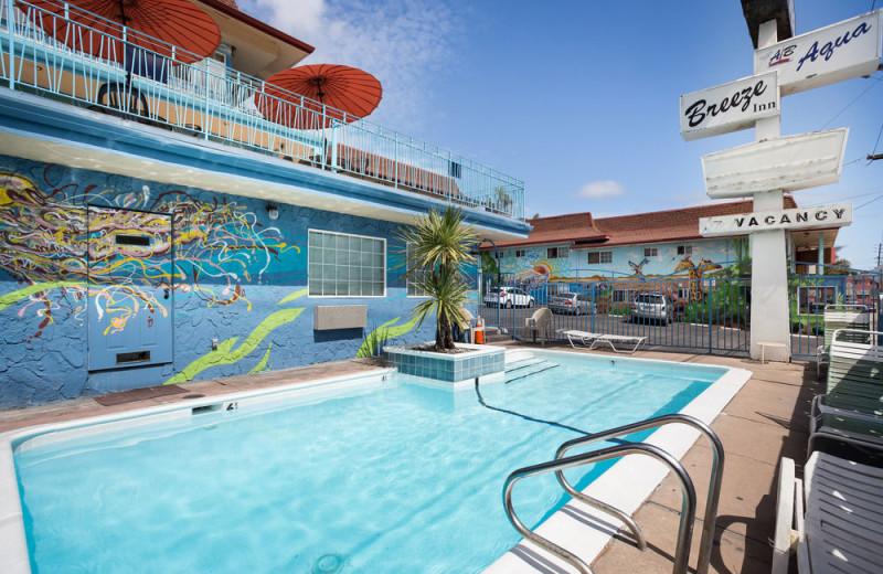 Outdoor pool at Aqua Breeze Inn.