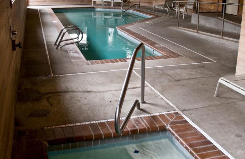 Pool area at The Garibaldi House Inn.
