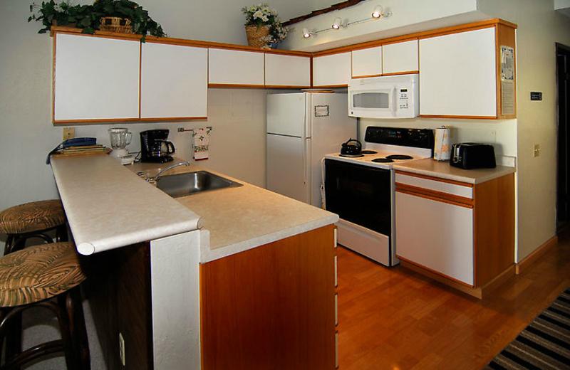 Vacation rental kitchen at Hale Kamaole Condos.